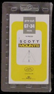 Scott/Prinz Pacific '97 Triangle Stamp Mounts Size: 67x34 Clear #984 C