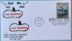 Blair Law 2975 Civil War U. S. S. Monitor U. S. S. Virginia Battle Hampton Roads