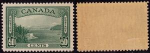 Canada 244 Unused - Vancouver Harbor 50c green (1938)
