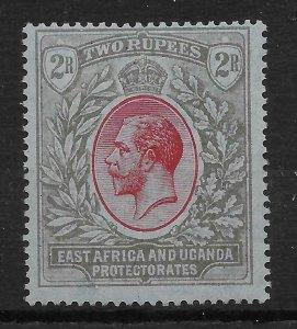 KENYA, UGANDA & TANGANYIKA SG72 1921 2r RED & BLACK ON BLUE MTD MINT