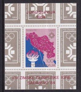 Yugoslavia  #1673 MNH  1984 wimter olympics Sarajevo  sheet