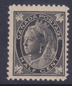 Canada 66 MNH OG 1897 ½c Black Queen Victoria F-VF