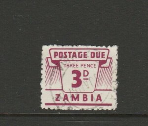 Zambia 1964 Dues 3d Used SG D13