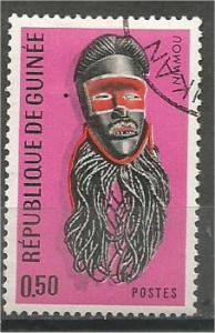 GUINEA, 1967, used 50c, Masks Scott 455