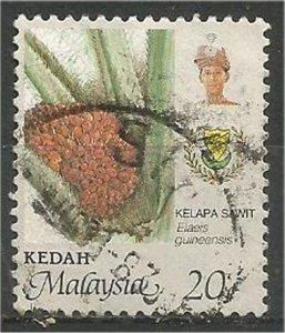KEDAH, 1986, used 20c, Agriculture. Scott 135