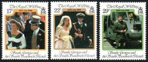 South Georgia 106-108, MNH. Royal wedding. Prince Andrew, Sarah Ferguson, 1986