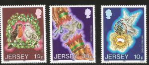 Jersey MNH 411-3 Christmas & Peace 1986