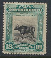North Borneo  SG 175 SC# 147 MH  perf 13½ x 14 see scan & details