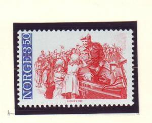 Norway Sc 857 1985 40th Anniversary Liberation stamp mint NH