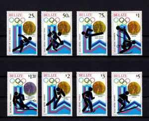 BELIZE - 1980 - WINTER OLYMPICS - LAKE PLACID - GOLD MEDAL WINNERS 8 X MNH SET!