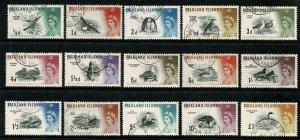 Falkland Islands.1960-66 Birds. Set of 15 values. SG 193/207