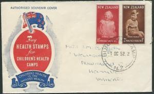 NEW ZEALAND 1952 Health FDC BURNHAM CAMP cds...............................37752