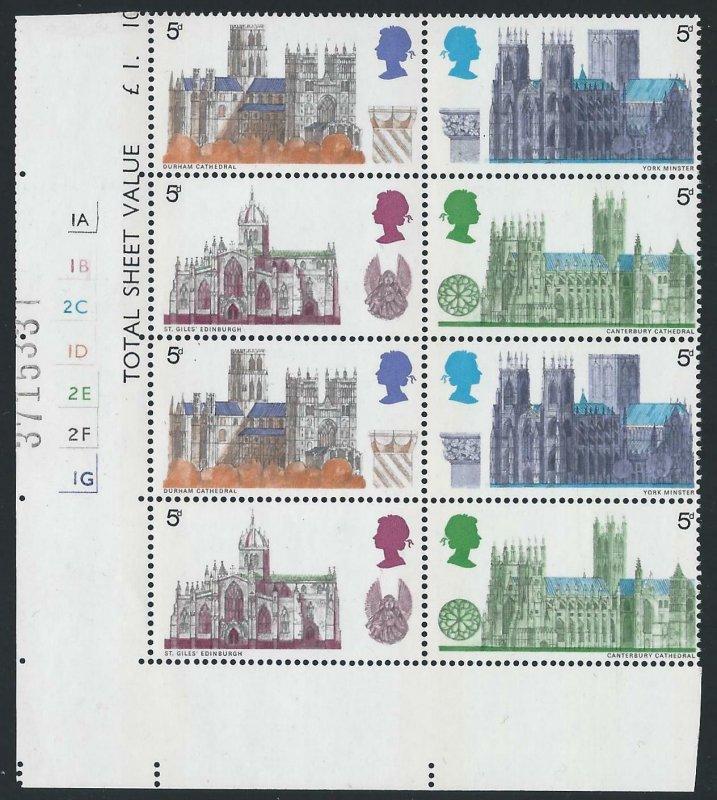 1969 Cathedrals 5d Cylinder 1A1B2C...No Dot - MNH