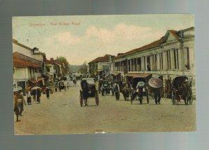 1903 Malacca Straits Settlement Singapore Postcard Cover to USA New Bridge Road