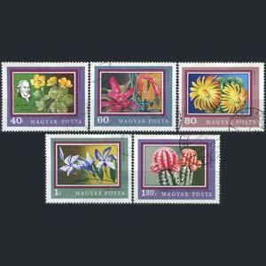 HUNGARY 1971 - Scott# 2089-93 Flowers 40f-1.2fo Used