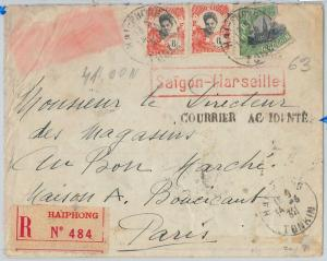 65256 - INDOCHINE -  POSTAL HISTORY:  FLIGHT COVER Crashed in CROTONE 1932