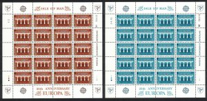Isle of Man Europa CEPT 2v 25th Anniversary Sheetlets of 20 stamps 1984 MNH