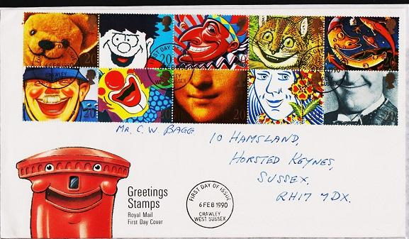 Great Britain. FDC.1990. Smiles. Fine Used
