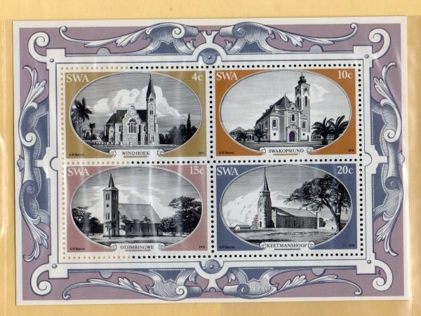 South West Africa Sc 422a 1978 Churches  stamp sheet mint NH