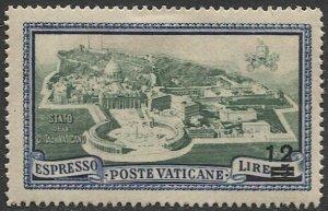 VATICAN CITY Italy 1945  Sc E8  MH F-VF  12L / 5L  Vatican City