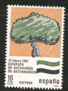 SPAIN Scott 2361 Autonomy tree stamp 1984