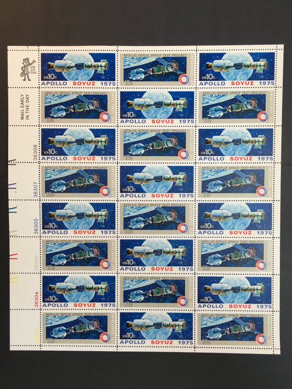 1975 sheet of stamps, Apollo Soyuz Sc #1569-70