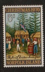 NORFOLK ISLAND SG120 1970 CHRISTMAS MNH