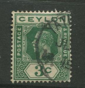 Ceylon #202 Used  1912  Single 3c Stamp