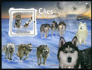 GUINEA BISSAU SLED DOGS SOUVENIR SHEET MINT NH