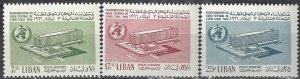 Lebanon  C469-71   MNH  UN WHO Building 1966