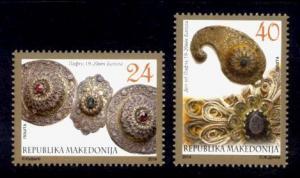 Macedonia Sc# 647-8 MNH Bitola Jewelry