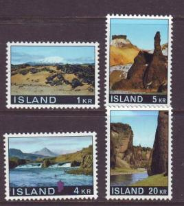 Iceland Sc 412-5 1970 views stamps mint NH