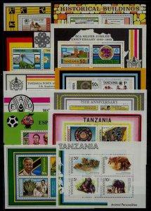 Tanzania 179/245a MNH lot SCV120.50