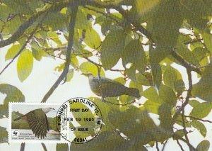 Micronesia 1990 Maxicard Sc #108 20c Micronesian pigeon WWF