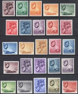 Seychelles 1938 2c-5r COMPLETE SET 25 SG 135-149 Sc 125-148 VLMM Cat £500($697)
