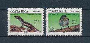 [104410] Costa Rica 1992 Animals lizard bird UPAEP  MNH