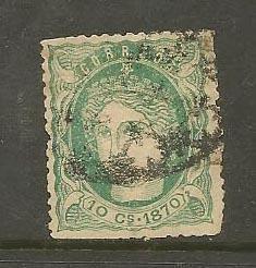 CUBA STAMP VFU 10 C.S CMOS. 1870 CORREOS #CCA11