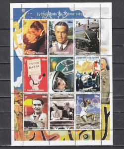 Guinea, 1998 Cinderella issue. Events of the 20th Century sheet..