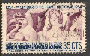 MEXICO C225, 35c Centennial of National Anthem. Used.VF. (1064)