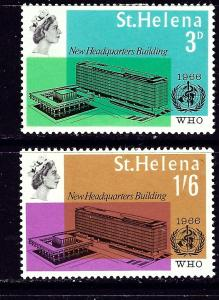 St Helena 190-91 MH 1966 WHO Headquarters Bldg
