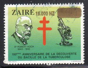 Zaire 1441 - Used - TB Bacillus Centenary ($5.00)
