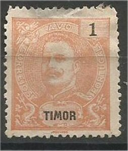 TIMOR, 1898, MH 1a, King Carlos Scott 54