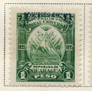 Nicaragua 1895 Early Issue Fine Mint Hinged 1P. Official Optd 323743