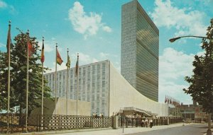 7377 POSTCARD THE UN ONU UNUSED