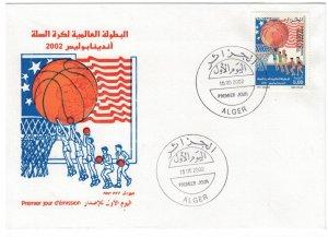 Algeria 2002 FDC Stamps Scott 1244 Sport Basketball
