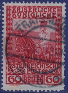Austria - 1908 - Scott #122 - used - TRAISMAUER pmk