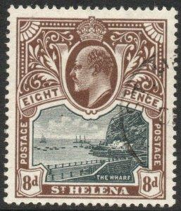 ST HELENA-1903 8d Black & Brown Sg 58 FINE USED V46335