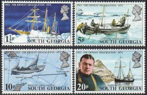 South Georgia 1972 50th Death Anniversary of Sir Ernest Shackleton MNH