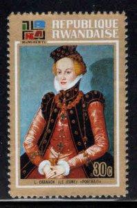 RWANDA Scott 524 Unused Painting stamp