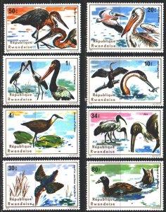 Rwanda. 1975. 711-18. Waterfowl, fauna. MNH.